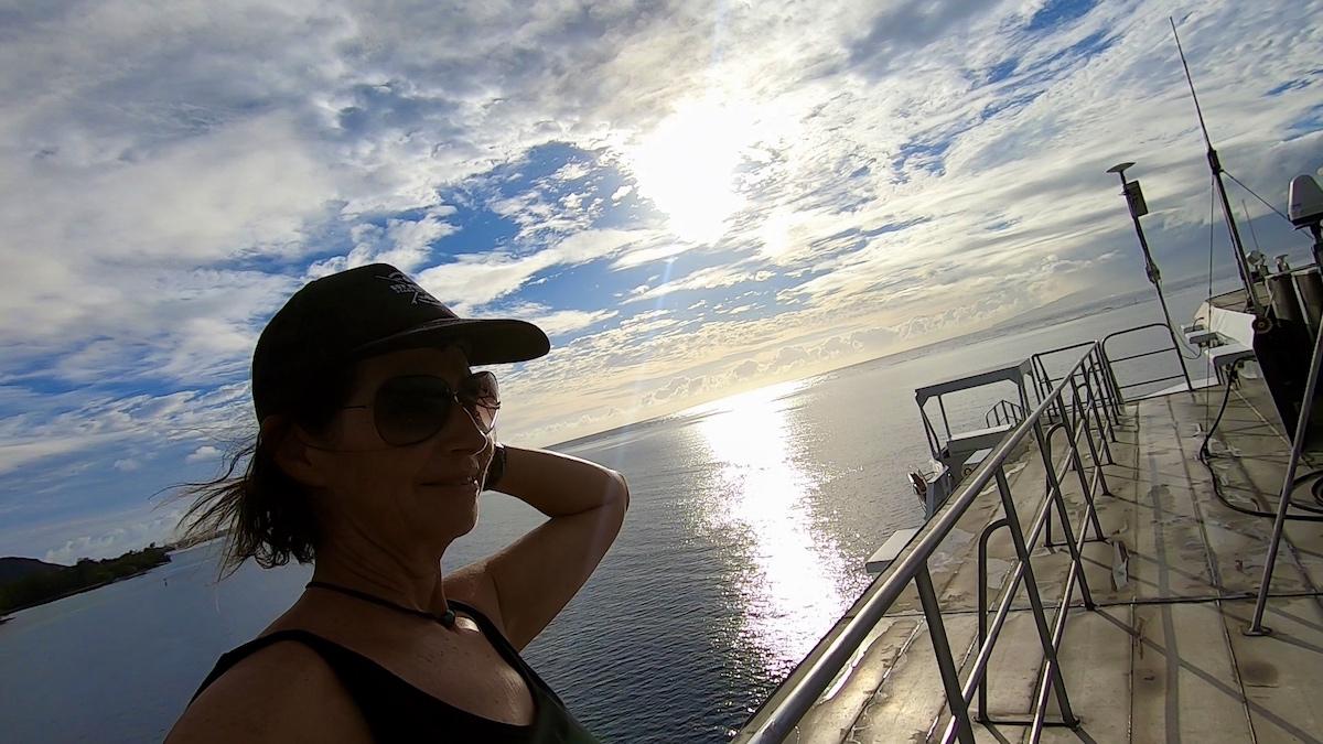 Sur le Ferry