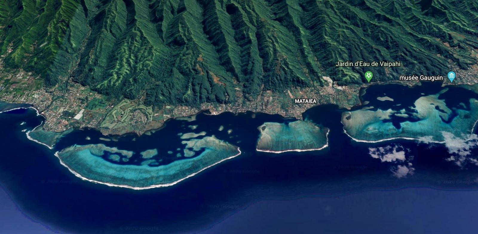 Tahiti Google Earth